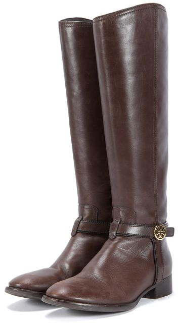 TORY BURCH Brown Leather Knee-high Boots