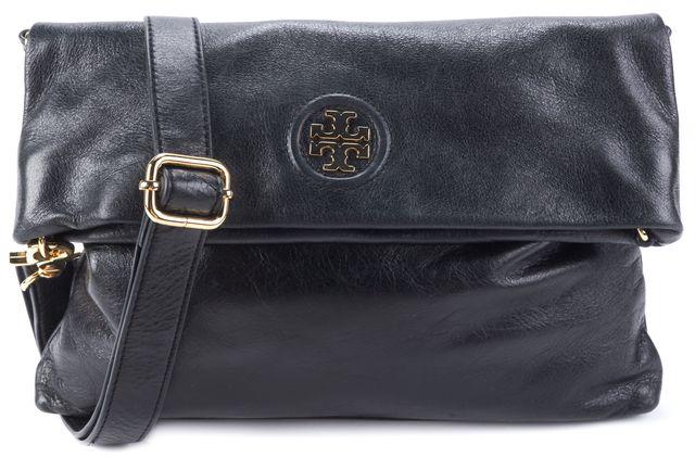 TORY BURCH Black Leather Crossbody Handbag