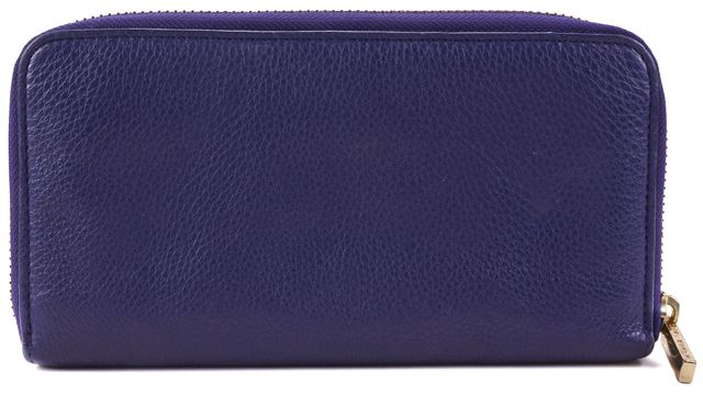 TORY BURCH Purple Pebbled Leather Wallet