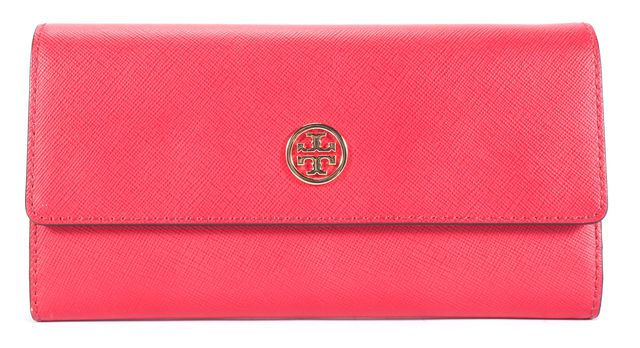 TORY BURCH Red Soffiano Leather Wallet