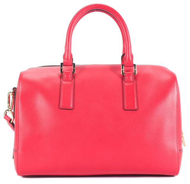 TORY BURCH Red Satchel Top Handle Handbag W/ Adjustable Strap