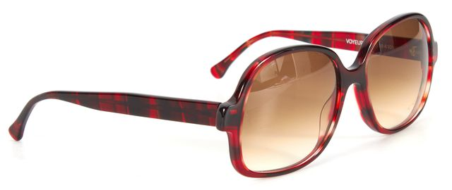 THIERRY LASRY Red Acetate Voyeury Sunglasses