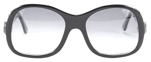 THIERRY LASRY Black and Clear Square Sunglasses
