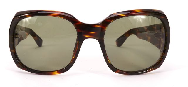 THE ROW x LINDA FARROW Brown Acetate Gradient Lens Cat No. 3 Square Sunglasses