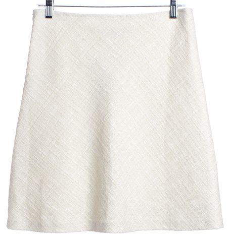 TRINA TURK Ivory A-Line Tweed Skirt Size 4