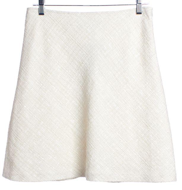 TRINA TURK Ivory A-Line Tweed Skirt