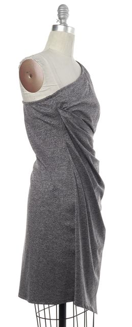 TRINA TURK Silver Gray Stretch Dress