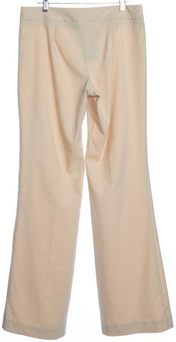 TRINA TURK Beige Single Pleat Wide Leg Trouser