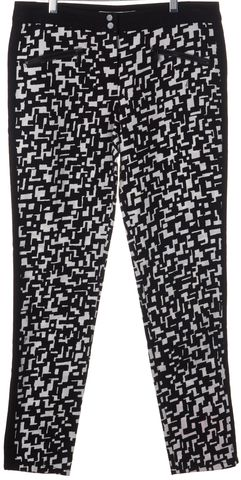 TRINA TURK Black White Print Skinny Pants Size 2