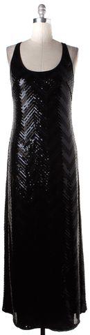 TRINA TURK Black Sequin Embellished Maxi Dress
