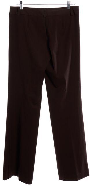 TRINA TURK Brown Wide Leg Trouser Pants