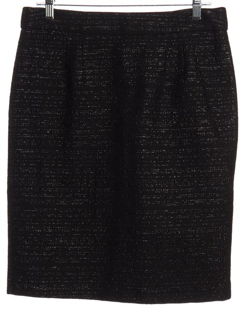 TRINA TURK Black Embroidered Pencil Skirt