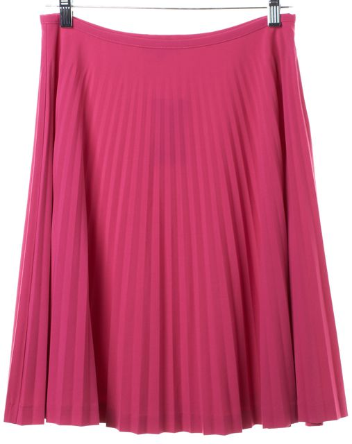 TRINA TURK Pink Full Pleated Skirt
