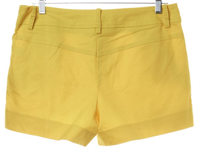 TRINA TURK Yellow Trouser Shorts