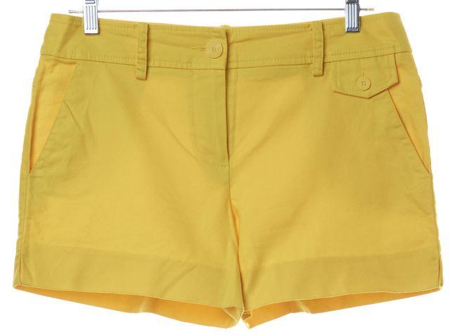 TRINA TURK Yellow Trouser Shorts