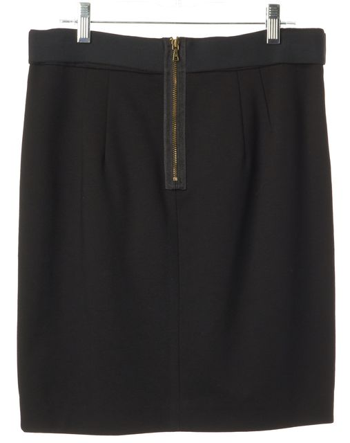 TRINA TURK Black Belted Pleated Mini Straight Skirt