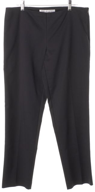 TRINA TURK Navy Blue Cropped Pleated Trouser Dress Pants
