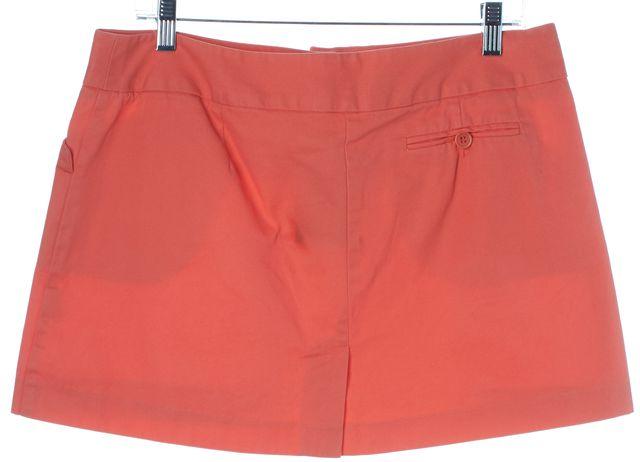 TRINA TURK Pink Cotton Pocket Front Mini A-Line Skirt