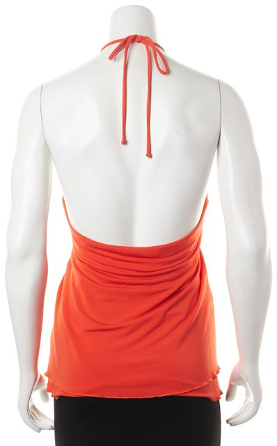 TRINA TURK Orange Empire Waist Summer Halter Top