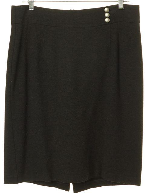 TRINA TURK Gray Above Knee Stretch Straight Skirt