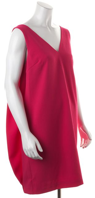 TRINA TURK Pink Sleeveless V-Neck Above Knee Shift Dress