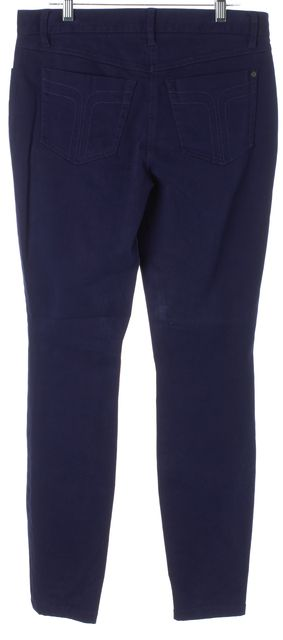 TRINA TURK Navy Blue Stretch Cotton Casual Pants