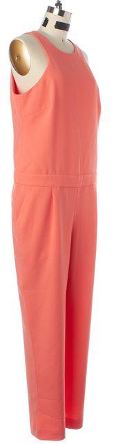 TRINA TURK Orange Sleeveless Two Pocket Polyester Jumpsuit/ Romper