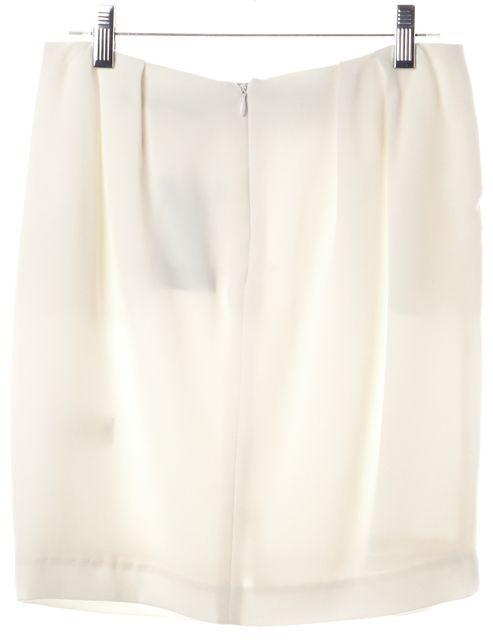 TRINA TURK White Black Pleated Front Pocket Colorblock Straight Skirt
