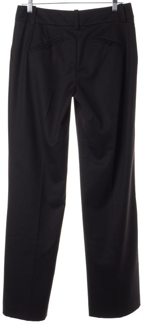 TRINA TURK Dark Purple Sparkle Pleated Trouser Dress Pants
