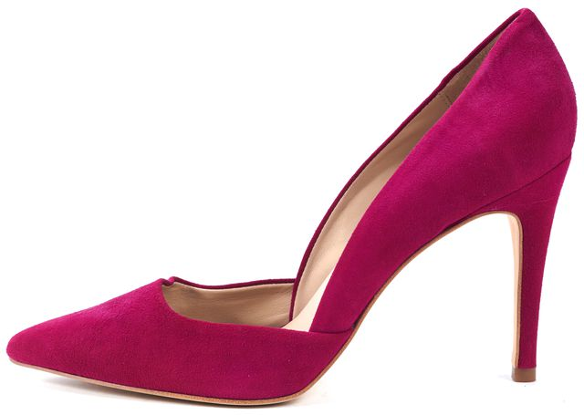 TRINA TURK Magenta Pink Suede Pointed Toe Hollywood d'Orsay Pumps