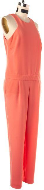 TRINA TURK Solid Orange Halter Jumpsuit