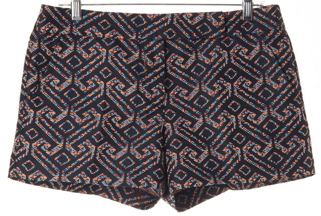 TRINA TURK Blue Pink Orange Yellow Geometric Knit Dress Shorts