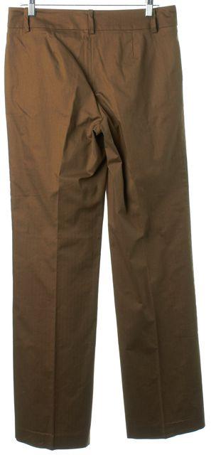 TRINA TURK Dark Olive Green Wide Leg Dress Pants