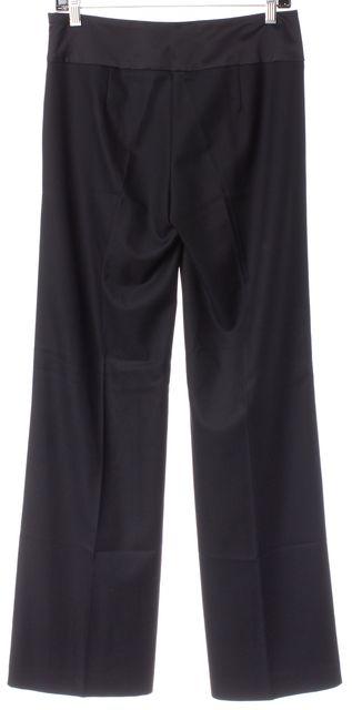 TRINA TURK Black Pleated Wide Leg Trouser Dress Pants
