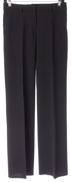 TRINA TURK Black Pleated Trouser Dress Pants