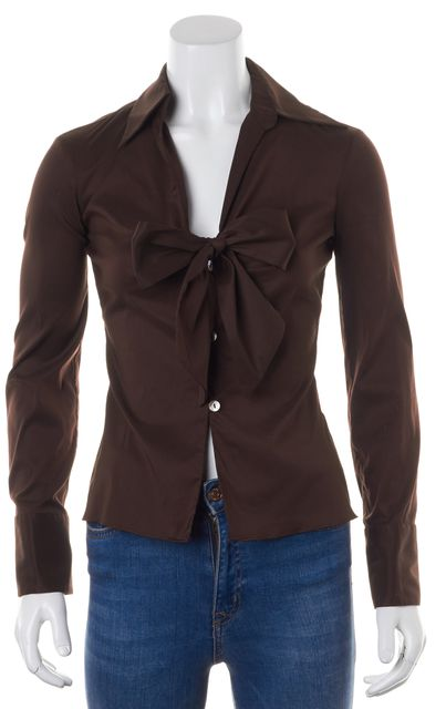 TRINA TURK Brown Blouse Top