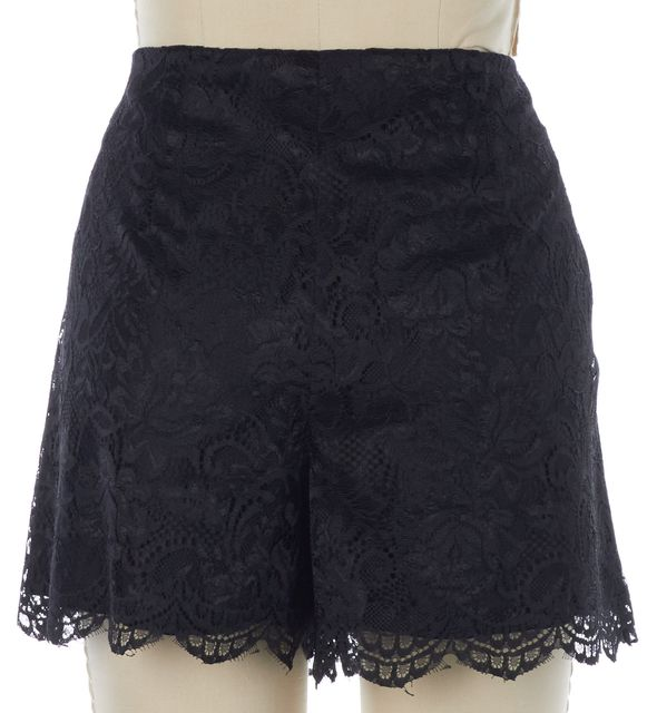 TRINA TURK Black Floral Lace Overlay Dress Shorts