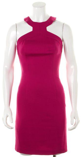TRINA TURK Pink Halter Cutout Back Above Knee Bodycon Dress