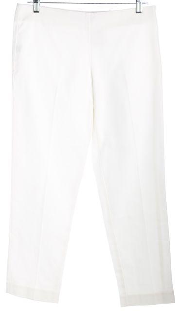 TRINA TURK White No Pocket Casual Pants