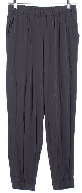 TRINA TURK Dark Gray Elasticized Waist And Ankle Pull On Jogger Pants