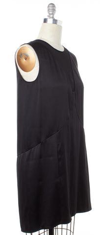 THEYSKENS' THEORY Black Silk Sleeveless Shift Dress Size 4