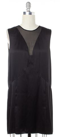 THEYSKENS' THEORY Black Silk Sleeveless Shift Dress