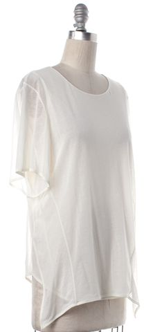 THEYSKENS' THEORY White Double Layers Sheer Blouse Top