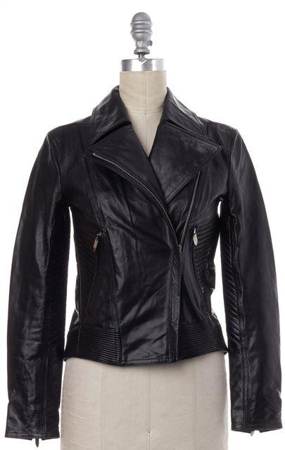 THEYSKENS' THEORY Black Leather Biker Jacket