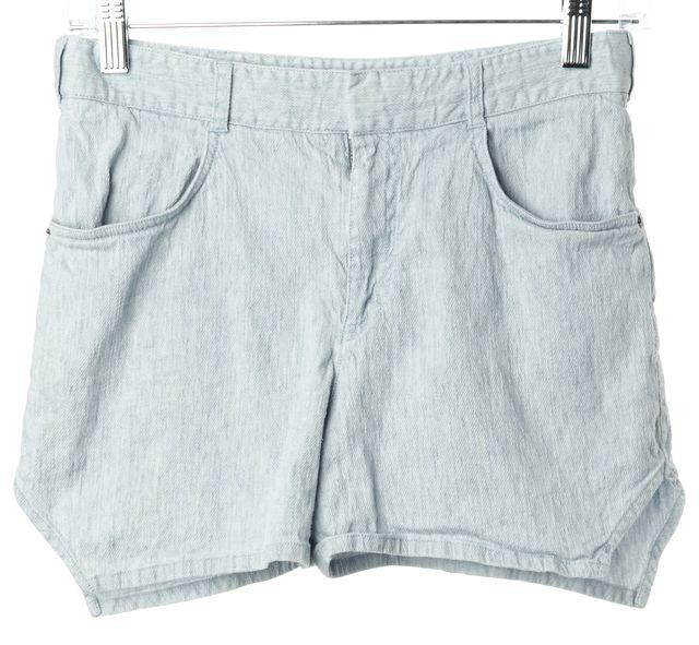 THEYSKENS' THEORY Linen Light Blue Denim Shorts
