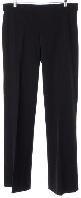 THEYSKENS' THEORY Black Wool Career Dress Boot-Cut Trousers Pants