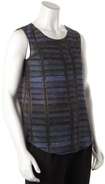 THEYSKENS' THEORY Blue Silk Geometric Top