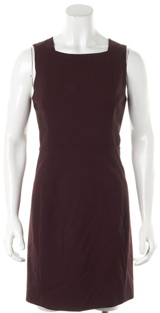 THEYSKENS' THEORY Burgundy Red Wool Sleeveless Pencil Sheath Dress