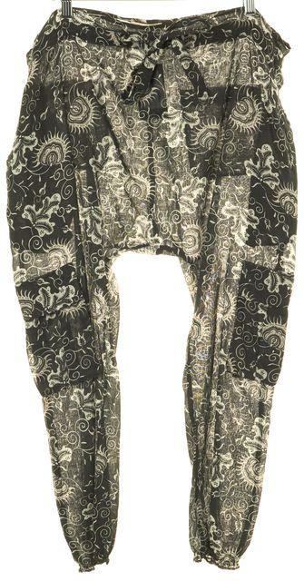 ULLA JOHNSON Gray Floral Print Jogger Pants
