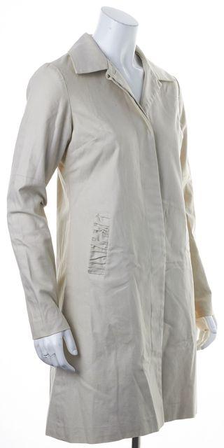 ULLA JOHNSON Beige Basic Button Front Two Pocket Jacket Coat